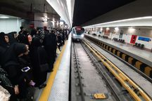 بیش از ۹۰۰ هزار نفر توسط قطارشهری مشهد جابهجا شدند