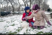 برف برخی مدارس لرستان را تعطیل کرد
