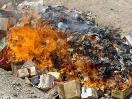 نابودی بیش از یک هزار لیتر عرقیات غیرقابل مصرف در میمند فیروزآباد