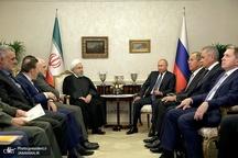 روحانی: رایزنیها و تعامل دوستانه مسئولان بلند پایه ایران و روسیه در تامین منافع دو ملت و منطقه است/ پوتین: نقش ایران در حل و فصل مسائل منطقه تاثیرگذار و حائز اهمیت است