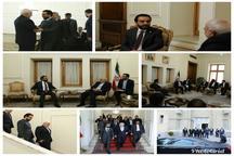 دیدار رئیس مجلس عراق با ظریف