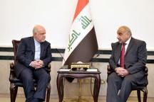 وزیر نفت با نخست وزیر و رئیس جمهور عراق دیدار کرد