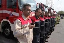مراسم گرامیداشت ایمنی و آتش نشانی در منطقه ویژه اقتصادی پتروشیمی