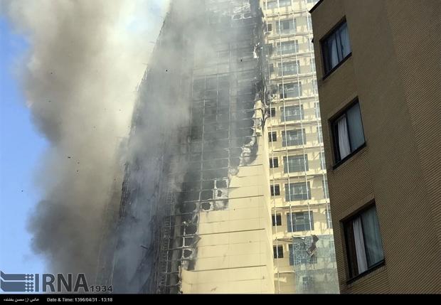 آتش سوزی گشترده در مشهد