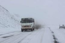 بارش برف، جاده پونل به خلخال را سفید پوش کرد