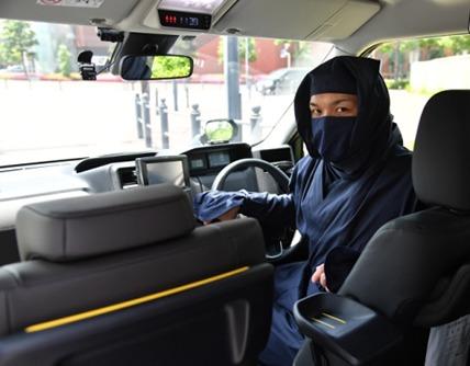 تاکسی با رانندگان نینجایی در ژاپن+ تصاویر