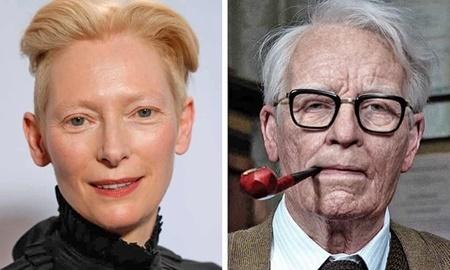 گریم شگفت انگیز خانم بازیگر در نقش یک پیرمرد+ عکس