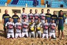 ملوان بندرگز در اولین بازی خانگی لیگ فوتبال ساحلی پیروز شد