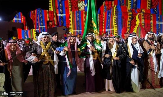 رقص پادشاهان خلیج فارس در ریاض+تصاویر