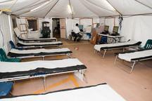 بیمارستان صحرایی سپاه در کامیاران برپا شد