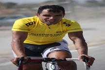 مهدی سهرابی در مسابقات دوچرخه سواری استقامت اول شد
