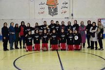 تیم بسکتبال دختران نوجوان اروند خوزستان در یزد اول شد
