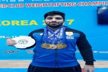 قهرمانی ورزشکار خوزستانی در مسابقات وزنه برداری جام باشگاه های آسیا