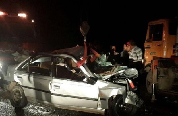 سانحه رانندگی در خراسان شمالی 2 کشته داشت