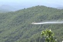 هواپیماهای محلول پاش به داد جنگل های آذربایجان غربی رسید