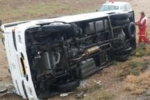 واژگونی مینی بوس در زرین شهر 19 مصدوم برجا گذاشت