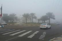 هوای چابهار و کنارک مه آلود شد