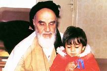 عکسی از امام و نوهشان