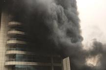 100 نفر از آتش سوزی برج مسکونی در تهران نجات یافتند