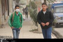 گرد و خاک مدارس نوبت عصر غرب کرمانشاه را تعطیل کرد