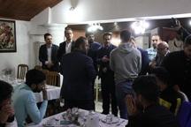 خبرنگاران ورزشی و بازیکنان تیم مقاومت آستارا تجلیل شدند