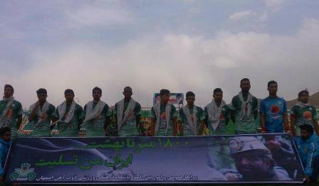 یک دقیقه سکوت به احترام جان باختگان حادثه معدن استان گلستان