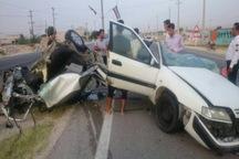 برخورد زانتیا با تیر برق درمحور دیر-بوشهر 2 کشته و مصدوم برجا گذاشت