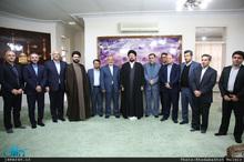 دیدار مدیرعامل منطقه آزاد قشم با سید حسن خمینی