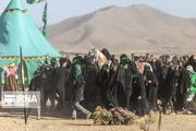 آیین تشییع نمادین شهدای کربلا در جهرم برگزار شد