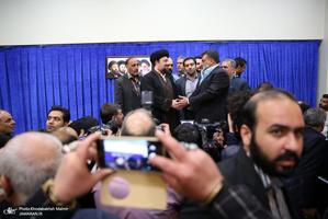دیدار جمعی از پیشکسوتان و ورزشکاران با سید حسن خمینی