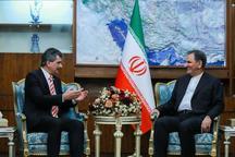 جهانگیری در دیدار سفیر جدید ترکیه در ایران: ایران از حضور سرمایه گذاران ترکیه استقبال میکند