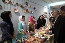 نمایشگاه فروش دست سازه های هنری در بیرجند بر پا شد