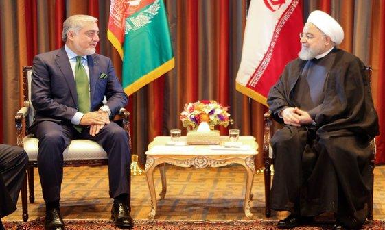 عکس/ دیدار روحانی با عبدالله عبدالله