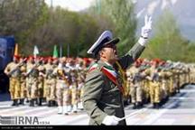 نمایش اقتدار نیروهای مسلح همدان در روز ارتش