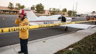 فرود هواپیما در خیابانی در ایالت فلوریدا/ فیلم