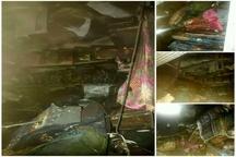مهار آتشسوزی مغازه تجاری توسط آتش نشانان دزفول