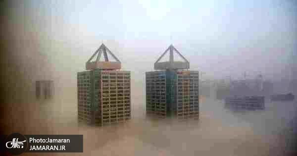 عکس/ زنگ هشدار آلودگی در پکن به صدا درآمد