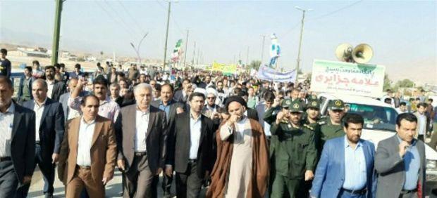 خروش ضد استکباری مردم پلدختر در ۱۳ آبان