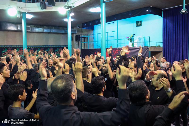 عزاداری هیئت امامزاده قاسم(ع) دربند در حسینیه جماران
