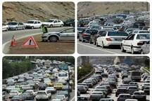 ترافیک درراه های البرز سنگین و نیمه سنگین است