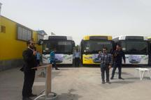 12 اتوبوس به ناوگان اتوبوس رانی آبادان اضافه شد