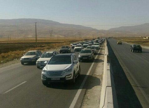ترافیک نیمه سنگین در مسیر قزوین-تهران