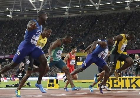 گاتلین قهرمان دوی سرعت شد/ناکامی بولت در کسب آخرین طلای دوی ۱۰۰ متر