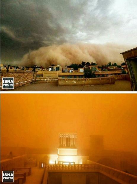 طوفان شن یزد را با خود برد! + عکس