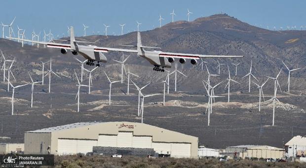 تصاویر/ بزرگترین هواپیمای جهان به پرواز درآمد