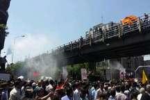 جلوه هایی از وداع باشکوه مردم تهران با شهدای ترور