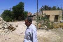 تخریب بخشی آثار دفاع مقدس در باغ موزه دفاع مقدس آبادان