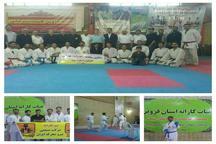 مسابقات کاراته کارگران استان قزوین پایان یافت