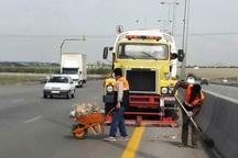 120 کیلومتر از محور بویین زهرا به قزوین پاکسازی شد