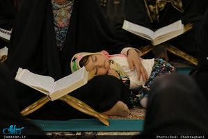 محفل ترتیل خوانی قرآن کریم در حرم کریمه اهل بیت(ع)